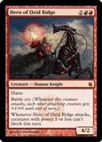 Magic the Gathering Mirrodin Besieged Single Hero of Oxid Ridge Foil - SLIGHT PLAY (SP)