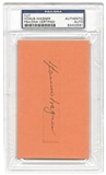 Honus Wagner Autographed Pittsburgh Pirates Cut Signature (PSA)