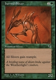 Magic the Gathering Tempest Single Horned Sliver - SLIGHT PLAY (SP)