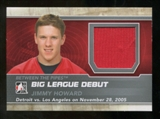 2012/13 In the Game Between The Pipes Big League Debut Jerseys Silver #BL09 Jimmy Howard* /100