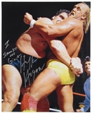 "Hulk Hogan Autographed 16x20 Photo with ""I Slammed the Giant"" Inscription (Tristar)"