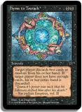 Magic the Gathering Fallen Empires Single Hymn to Tourach UNPLAYED (NM/MT) - Danforth