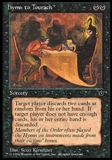 Magic the Gathering Fallen Empires Single Hymn to Tourach UNPLAYED (NM/MT) - Kirschner
