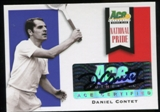 2013 Leaf Ace Authentic Grand Slam National Pride Autographs #NPDC2 Daniel Contet Autograph