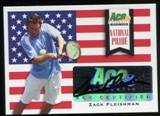 2013 Leaf Ace Authentic Grand Slam National Pride Autographs #NPZF1 Zack Fleishman Autograph
