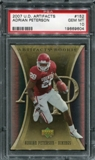 2007 Upper Deck Artifacts #152 Adrian Peterson RC PSA 10 Gem Mint