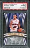 2009/10 Upper Deck SP Game Used #133 Stephan Curry RC /399 PSA 10 Gem Mint