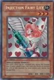 YuGiOh Legacy of Darkness Single Injection Fairy Lily Secret Rare - MODERATE PLAY (MP)