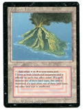 Magic the Gathering 3rd Ed (Revised) Single Volcanic Island - HEAVY INKING