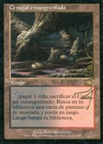 Magic the Gathering Onslaught Single Bloodstained Mire SPANISH ARTIST SIGNED - SLIGHT PLAY (SP)