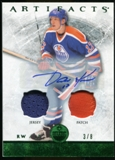 2012/13 Upper Deck Artifacts Jerseys Patch Autographs Emerald #33 Jari Kurri 3/8