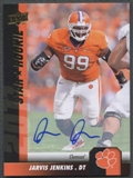 2011 Upper Deck Football Jarvis Jenkins Rookie Auto