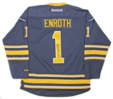 Jhonas Enroth Autographed Buffalo Sabres Blue Hockey Jersey