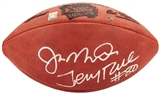 Joe Montana and Jerry Rice Autographed Wilson NFL Super Bowl XXIV Football (GTSM)