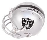 Jerry Rice Autographed Oakland Raiders Mini Football Helmet Steiner
