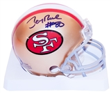 Jerry Rice Autographed San Francisco 49ers Mini Helmet (Radtke & Rice Hologram)