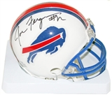 Joe Ferguson Autographed Buffalo Bills Throwback 76-83 Mini Football Helmet