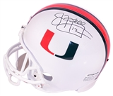 Jim Kelly Autographed University of Miami Full-Size Replica Football Helmet