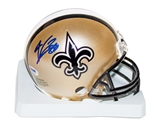 Jimmy Graham Autographed New Orleans Saints Mini Helmet (PSA)