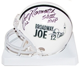 Joe Namath Autographed New York Jets Broadway Joe Exclusive Football Mini Helmet