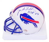 Joe DeLamielleure Autographed Buffalo Bills Throwback 76-83 Mini Football Helmet
