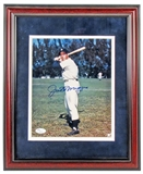 Joe DiMaggio Autographed NY Yankees Framed (Double Matted) 8X10 Photograph (JSA)