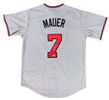 Joe Mauer Autographed Minnesota Twins Baseball Jersey (MLB Certified)