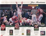 1995 Upper Deck Joe Montana Commemorative Sheet Lot of 10