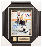 Joe Mullen Autographed Framed Pittsburgh Penguins 8x10 Hockey Photo (Frameworth)