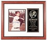 Joe DiMaggio Autographed New York Yankees Framed 8x10 Photo (Field of Dreams)