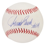 Johnny Bench Autographed Official Major League Baseball HOF 89 (JSA COA)