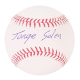 Jorge Soler Autographed Chicago Cubs Official MLB Baseball (PSA)