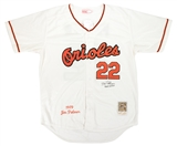Jim Palmer Autographed Authentic Baltimore Orioles Throwback Baseball Jersey (JSA)