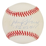 "Johnny Podres Autographed Official MLB Baseball w/""1955 WS MVP"" Inscription (PSA)"