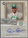 2005/06 Upper Deck Rookie Debut #GG Gerald Green Debut Ink Rookie Auto