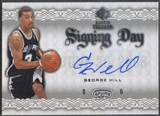 2008/09 Upper Deck SP Rookie Threads #SDGH George Hill Signing Day Rookie Auto