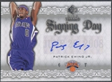 2008/09 Upper Deck SP Rookie Threads #SDPE Patrick Ewing Jr. Signing Day Rookie Auto