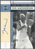 2003/04 Upper Deck Legends #JH Josh Howard Signs of a Future Legend Rookie Auto