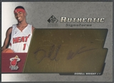 2004/05 SP Signatures #DW Dorell Wright Authentic Signatures Rookie Auto