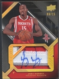 2008/09 UD Black #SJRJD Joey Dorsey Rookie Signed Patch Auto #08/15