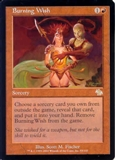 Magic the Gathering Judgment Single Burning Wish - NEAR MINT (NM)