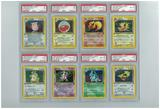 Pokemon Jungle 1st Edition All 16 Holo Rare Set - All Holos PSA Graded, Avg 7.66