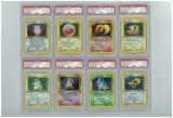 Pokemon Jungle 1st Edition Near-Complete Set - All Holos & 8 Rares PSA Graded, Avg 8.4!