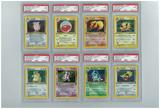 Pokemon Jungle 1st Edition All 16 Holo Rare Set - All Holos PSA Graded, Avg 8.94