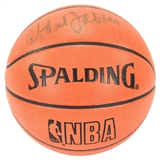 Kareem Abdul-Jabbar Autographed Los Angeles Lakers Spalding Game Basketball (JSA)
