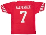 Colin Kaepernick Autographed San Francisco 49ers Red Football Jersey (PSA)