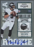 2010 Playoff Contenders #225B Mike Kafka White Jersey Rookie Autograph