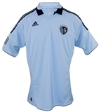 Sporting Kansas City Adidas ClimaCool Blue Replica Jersey (Adult L)