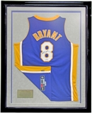 Kobe Bryant Autographed & Framed L.A. Lakers Authentic Jersey #8 (UDA)  #29/50