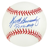 Keith Hernandez Autographed Official Major League Baseball (JSA COA) - MVP Inscription